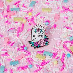 K Bye Enamel Pin