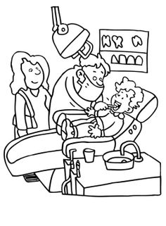 dentist check your teeth little kids coloring pages