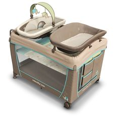 Hearty Deluxe Fabric Round Playpen Soft Touch Flexable Machine Washable New Baby
