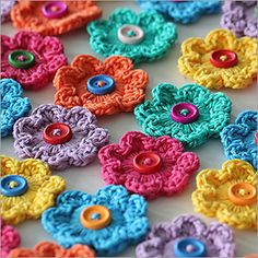 Mini Hoop Flowers - free crochet pattern by Matt Farci / Boys & Bunting. Lovely.