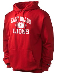 East Dillon High School Lions Football Hoodie with Player Number #FridayNightLights