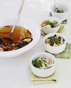 Hot and Sour Broth with Shredded Chicken, Wholeliving.com