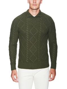 Erving Wool Cable Knit Sweater