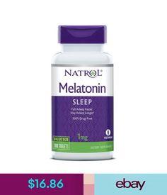 Vitamins & Minerals Natrol Melatonin 1 Mgdrug-Free Nighttime Sleep Aid & Patterns 180 Tablets #ebay #Fashion