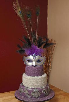 Masquerade Cakes | Wonky (Topsy Turvy), Masquerade & Carnival Cakes & Cupcakes Galleries