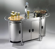 Alpina Grills & Catering Systems Mobile Bongos Beer Bar: Perfect for Any Man Cave