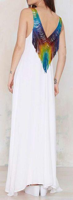 Rainbow Fringe Dress