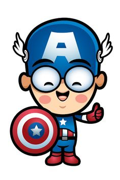 Lil Oishi as Captain America!