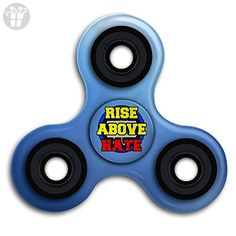 Oohucc Tri Fidget Spinner Rise Above Hate Finger Toy Help To Release Stress Tri-Spinner High Speed Spin - Fidget spinner (*Amazon Partner-Link)