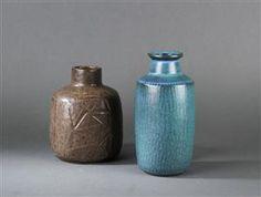 Vare: 3164512 Eva Stæhr Nielsen for Saxbo samt Gunnar Nylund. Vaser, keramik (2)
