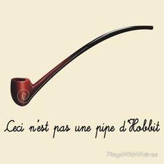Ceci n 39 est pas une pipe d 39 hobbit by playswithwolves - Ceci n est pas une chaise ...