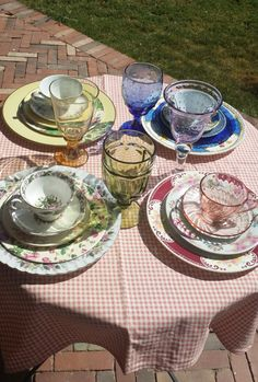 Perfectly MisMatched ECLECTIC Vintage China by RuthiesThisandThat, $85.00