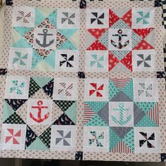 Navy Nautical | Quilt design, Navy and Patterns : nautical themed quilt patterns - Adamdwight.com