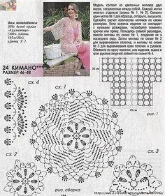 Tapestry Crochet Patterns, Crochet Motif, Crochet Flowers, Knit Crochet, Crochet Stitches, Crochet Jacket, Crochet Cardigan, Crochet Sweaters, Vogue Knitting