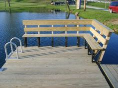 Here are some pictures of Ron Curry& Floating Dock we just installed. It is with a nice bench seat on 3 sides, some boat cleats and . Lake Dock, Boat Dock, Cabana, Bungalow, Floating Dock, Lakefront Property, Lake Cabins, Lake Cottage, Outdoor Living