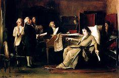 Wolfgang Amadeus Mozart Directing His Requiem, by Mihaly Munkacsy Mozart Requiem, Amadeus Mozart, Online Posters, Canvas Prints, Art Prints, Classic Image, Drawing, Classical Music, Metropolitan Museum