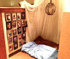 A safe and cosy area for pupils to retreat too. Pictures of their families hang nearby.