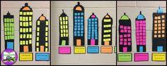 Arrays: Array Cities a cute Idea for practicing arrays, repeated addition, and beginning multiplication! (The Owl Teach)