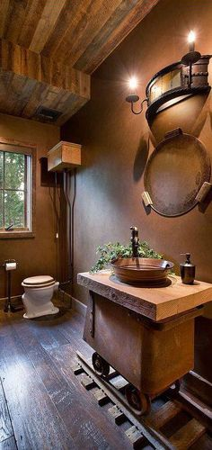 I would have to say..this is one of the most unique sink designs I have seen to date & I am lovin it!! http://bellegreydesign.com/