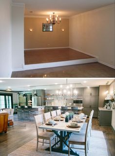 Fixer Upper: The Peach House for Waco's 'Most Eligible Bachelor' - Dining Room Before and After