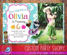 FROZEN SUMMER Printable Photo INVITATION by CustomPartyShoppe, $10.00