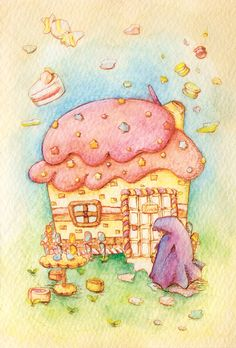 「ヘンゼルとグレーテル」  「Hansel and Gretel」  Illustration : Shoko.h