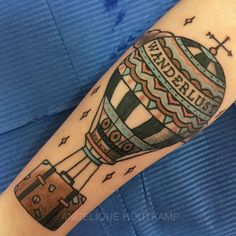 Angelique Houtcamp, hot air balloon tattoo.