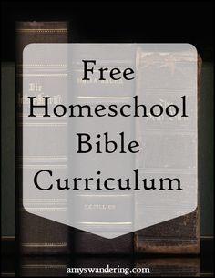 Big list of Free Homeschool Bible Curriculum