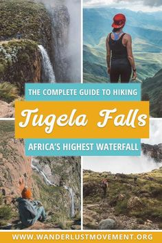 Planning a trip to South Africa? Head to the Drakensberg and tackle the Tugela Falls hike! It will take you to the mouth of the highest waterfall in Africa and reward you with breathtaking vistas of the Drakensberg mountains. Africa Destinations, Travel Destinations, Hiking Guide, Hiking Trails, Best Hikes, Africa Travel, Travel Tips, Travel Guides, Travel Hacks