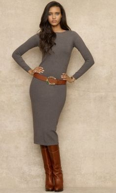 16 Winter Dresses That Will Actually Keep You Warm - Dress-Look - Winter Mode Look Fashion, High Fashion, Winter Fashion, Fashion Outfits, Womens Fashion, Classic Fashion, Dress Fashion, Fall Winter Outfits, Winter Dresses