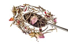 """Pink Pride"". The height of flamboyant charm and colourful character. A delicate combination of the most exclusive white tea and fragrant rose petals.  You are very welcome to use this image but please link to http://mdteashop.co.uk/collections/teas/products/pink-pride"