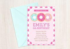 Donut Party Invitation  Doughnut Birthday by SunshineInkStudio