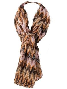 Brown, Orange, and Pink Pattern Scarf - $15.00 : FashionCupcake, Designer Clothing, Accessories, and Gifts