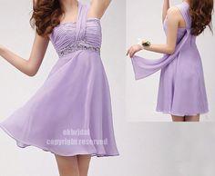 purple bridesmaid dress chiffon bridesmaid dress short by okbridal, $114.00