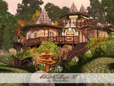 Elven Cottage 2 by Pralinesims - Sims 3 Downloads CC Caboodle Check more at http://customcontentcaboodle.com/elven-cottage-2-by-pralinesims/