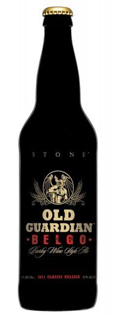 Cerveja Stone Old Guardian Belgo - Barley Wine, estilo Barley Wine, produzida por Stone Brewing Co., Estados Unidos. 12% ABV de álcool.