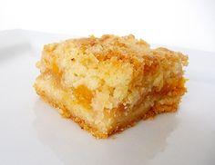 Peach Crumb Bars | Brown Eyed Baker