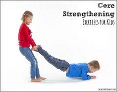 core strength for kids #6 - fun game