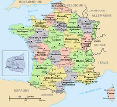 Large Map of France with Cities