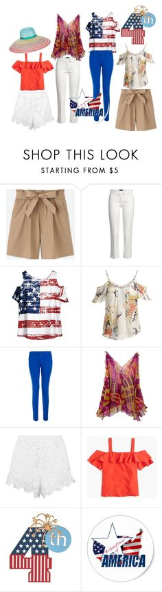 dressing for july 4th by friedlander on Polyvore featuring Joie, J.Crew, Uniqlo, Joseph, J Brand, Ermanno Scervino and Missoni