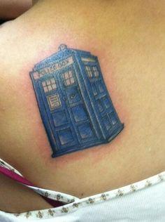 T.A.R.D.I.S tattoo! I just love how it is the T.A.R.D.I.S.