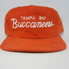 Sports Specialties Scripts - Tampa Bay Buccaneers Corduroy Snapback Hat - 1990s