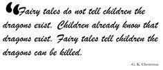 Book Dragon's lair: fairytale quate by G.K. Chesterton