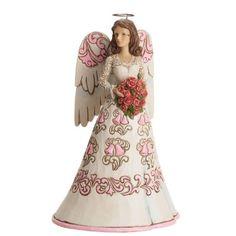 Jim Shore for Enesco Heartwood Creek Anniversary Angel Figurine, 8.25-Inch