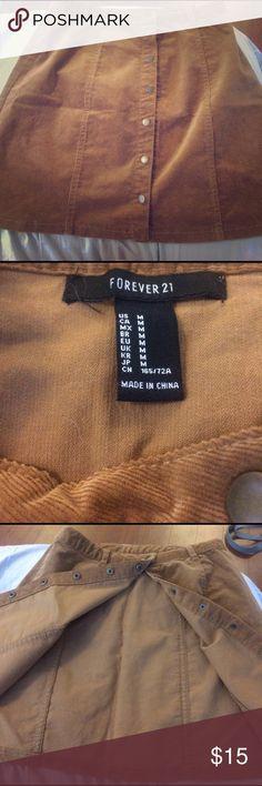 Corduroy button down skirt Never worn :( Forever 21 Skirts Mini
