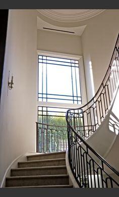 Stairway in a house designed by William Hefner.