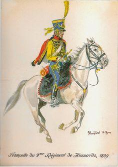 Trompette du 9e regiment de hussards 1809