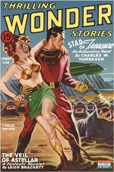 thrilling WONDER STORIES vintage COMIC BOOK COVER POSTER spring 24X36 SCI-FI