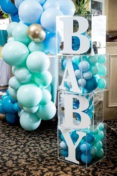 Baby Shower Decorations 64890 Arcylic Blocks / Clear Cube/Baby Shower Blocks/Name Blocks Regalo Baby Shower, Deco Baby Shower, Cute Baby Shower Ideas, Baby Shower Decorations For Boys, Boy Baby Shower Themes, Baby Shower Balloons, Baby Shower Centerpieces, Baby Shower Parties, Baby Boy Shower