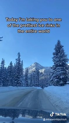 Beautiful Places To Travel, Cool Places To Visit, Vacation Places, Dream Vacations, Bucket List Travel, Travel Goals, Travel Tips, Ice Skating Videos, Canada Destinations